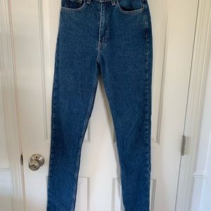 American Apparel dark wash mom jeans